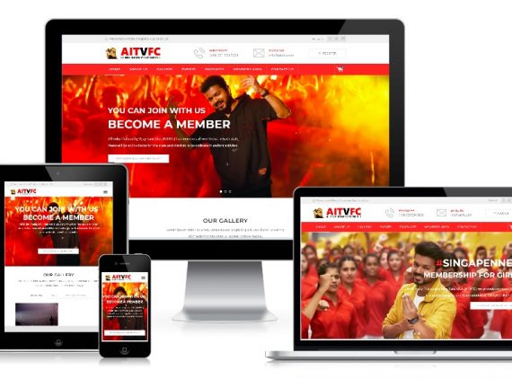 AITVFC – Fans Club Website Design
